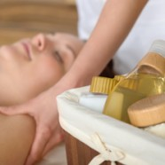Beauty treatment at a luxury spa